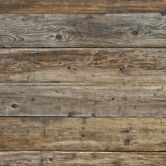 Old faded dull pine natural dark wooden background square