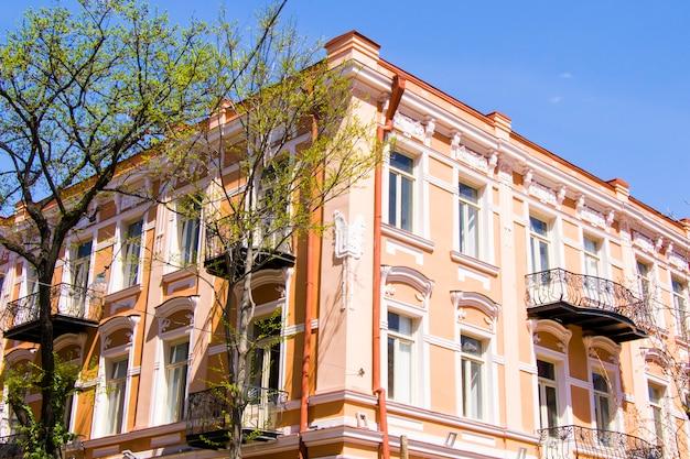 Old famous architecture exterior, gudiashvili square in old town and city center of tbilisi, georgia.