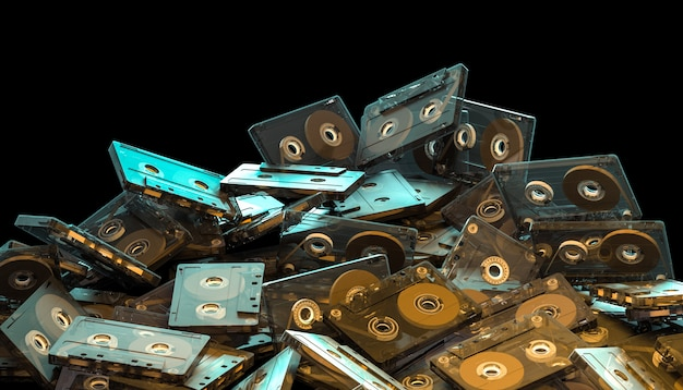 Old fashion audio cassette
