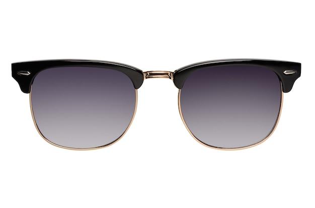흰색 배경에 고립 된 오래 된 패션 browline 선글라스