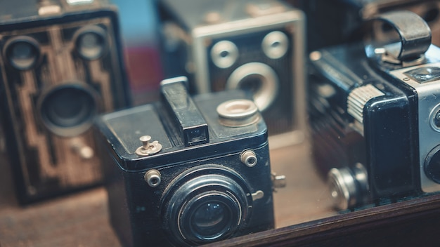 Old film camera collection set