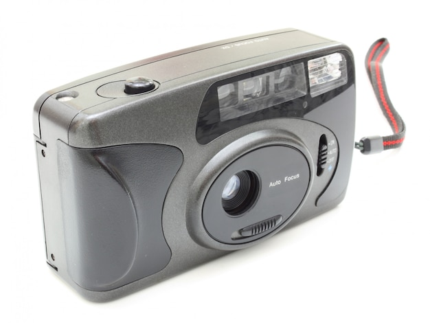 The old film camera of gray color