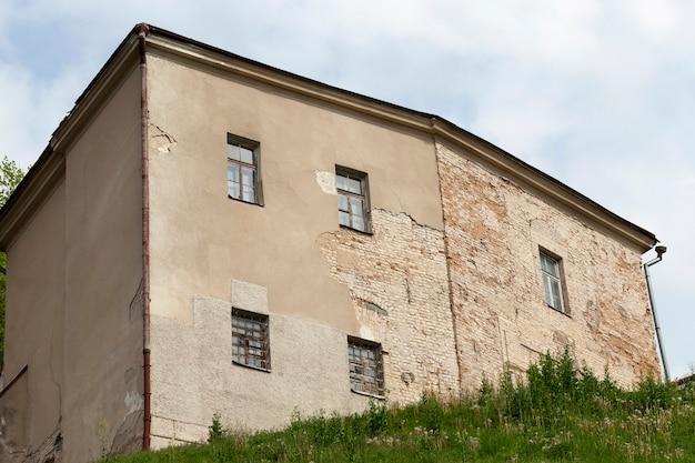 Старая крепость, расположенная в гродно, беларусь крупным планом