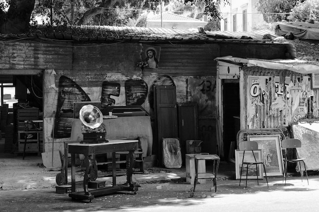 Old furniture in black and white