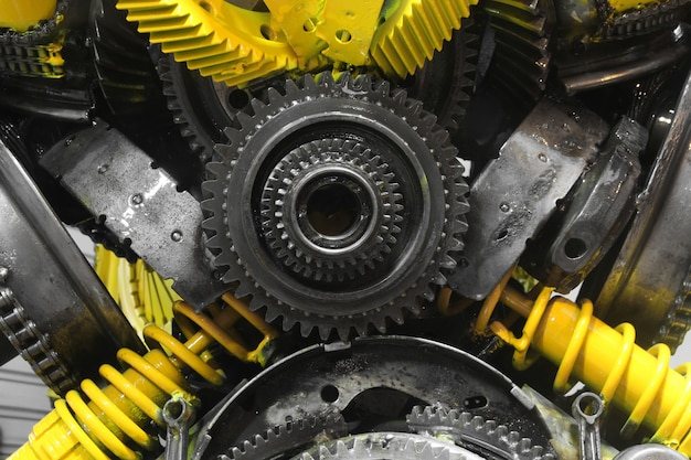 Old gear and chain, machinery part