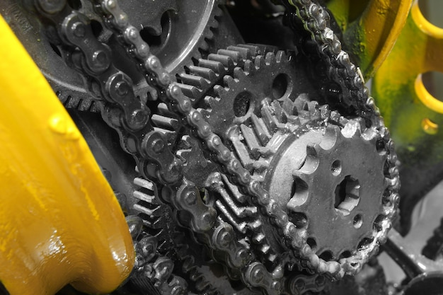 Old gear and chain