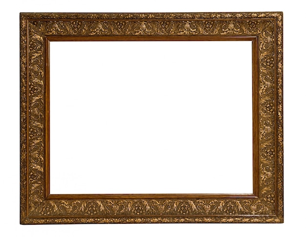 Old gilded gold picture frame