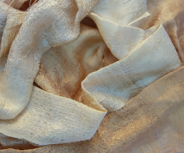 Old gold color silk
