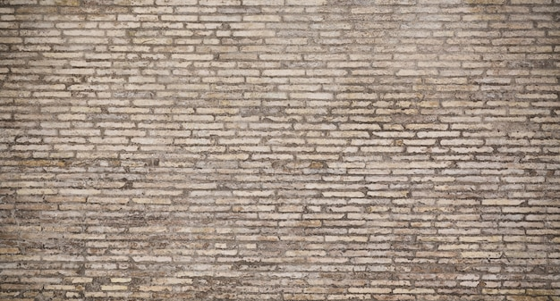 Old gray brick wall texture background.