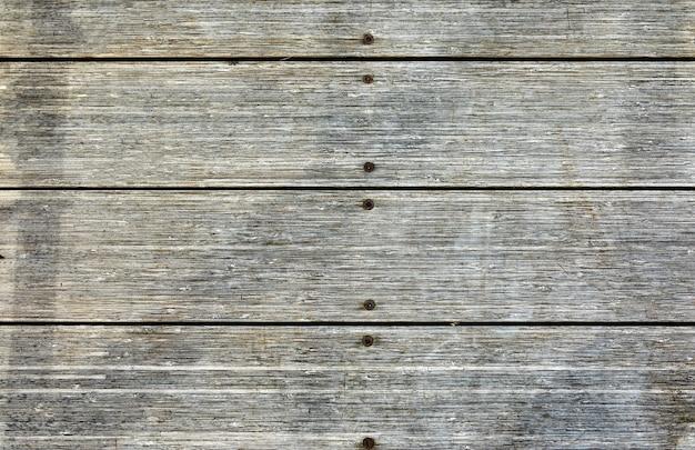 수평 나무 판자에서 오래 된 회색 빈티지 그런 지 표면