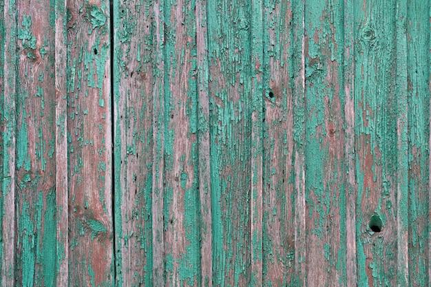 오래 된 녹색 갈색 초라한 그려진 된 나무 배경 텍스처