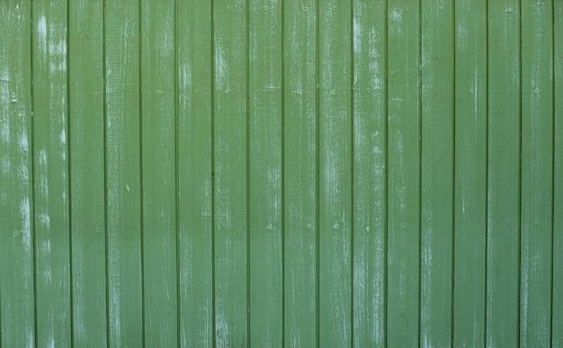 古い緑の色の木の板のテクスチャ背景