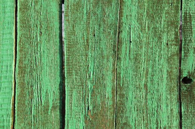 古い緑の木目調をクローズアップ