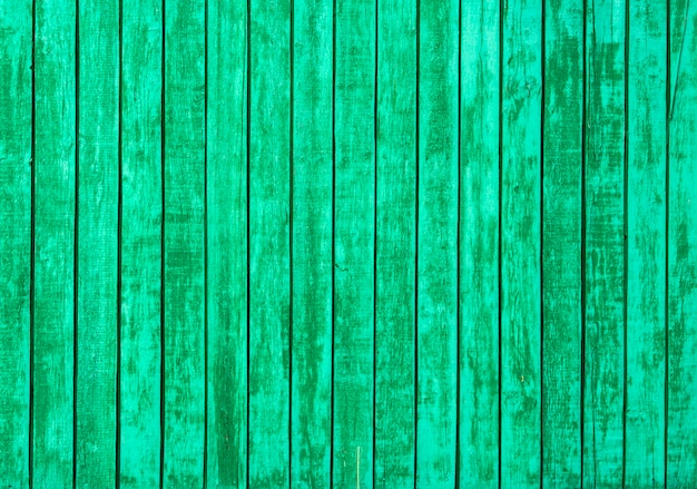 Old green wooden wall background
