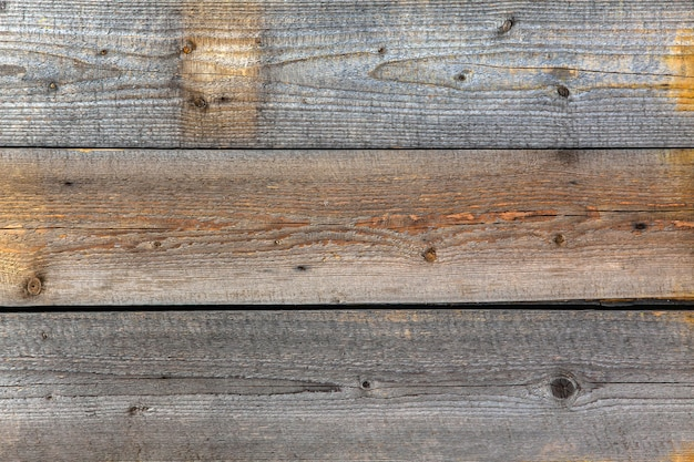 Old grey horizontal wood boards texture background.