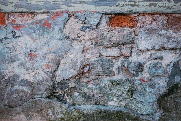 古いグランジのレンガの壁の背景のビルド