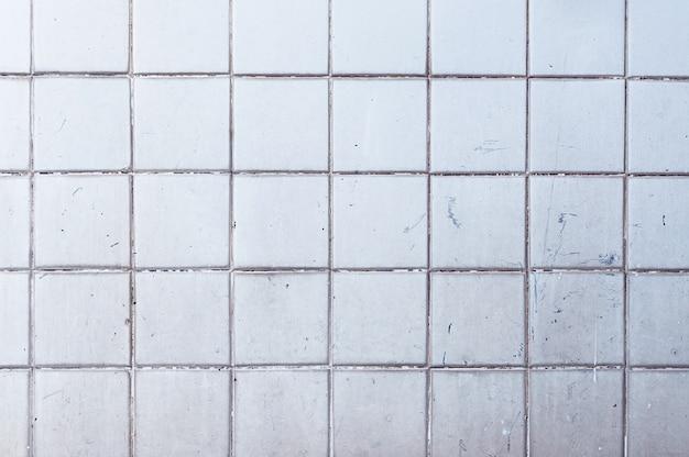 古いグランジセラミックタイル壁のテクスチャ背景