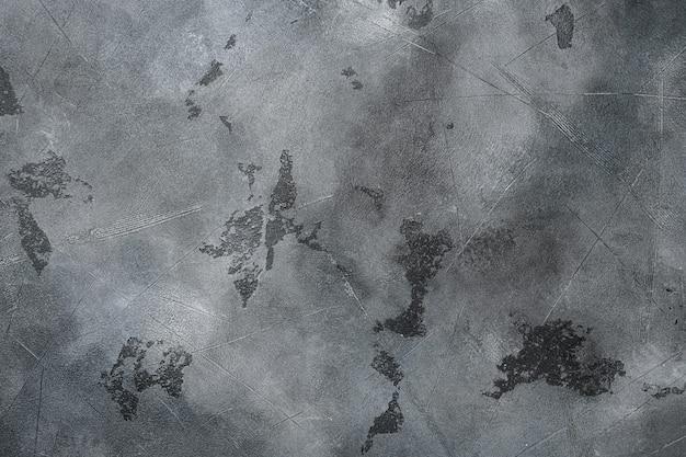 오래된 그루지 짙은 질감의 나무 배경 세트, 위쪽 뷰 플랫 레이, 텍스트 또는 음식 회색 석재 테이블 배경 복사 공간