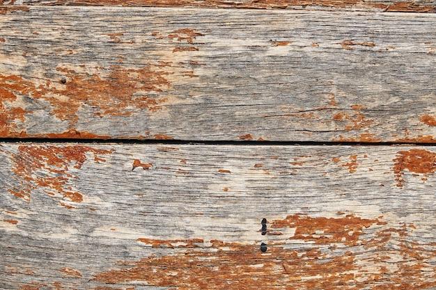 古いグランジ暗い木のテクスチャ背景、古い茶色の木目テクスチャ、上面茶色のチーク材の羽目板の表面。
