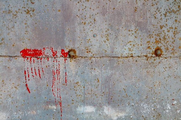 Old grunge vintage background multicolored rusty metal surface