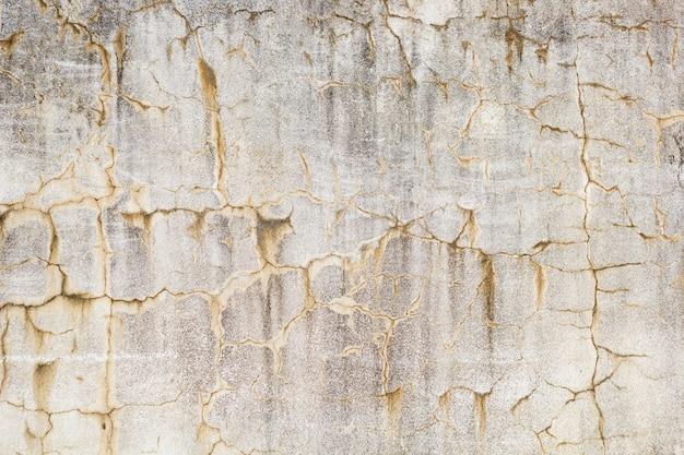 亀裂や汚れの質感と古いグランジ壁をクローズアップ