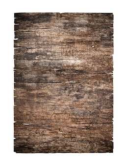 Old grunge wood texture isolated on white