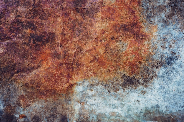 Old grunge zinc and rusty background texture with copy space.