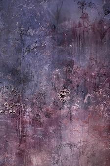 Старый шероховатый цветочный фон текстуры