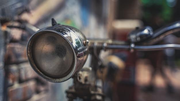 Old headlamp bicycle