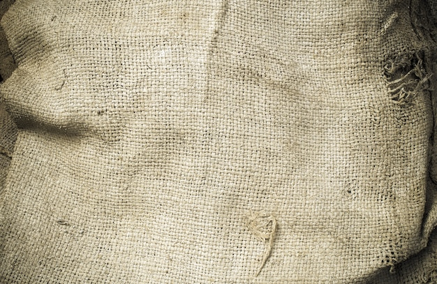 Old hemp sack grunge, used for texture and background