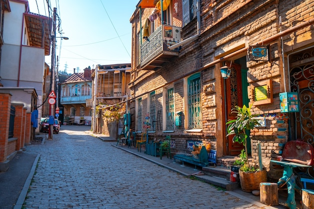 Old historic houses in tbilisi. travel