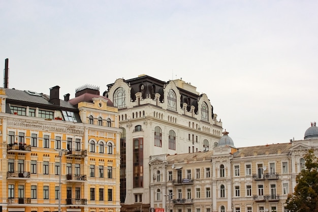 Old historical buildings in the city