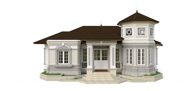 Старый дом в викторианском стиле.