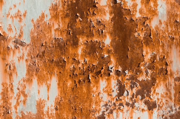 Old iron background with rust and chipped.