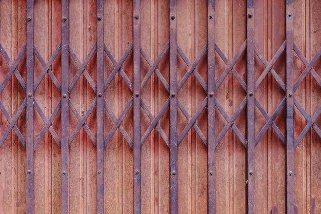 Old iron texture of shutter door background.
