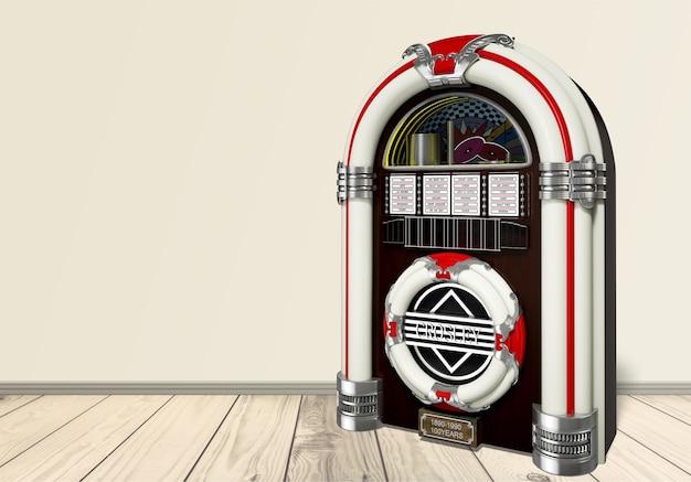 오래 된 주크박스 음악 플레이어 절연