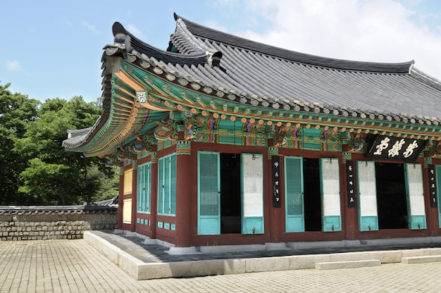 Old korean palace temple building