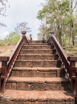 Old laterite staircase.