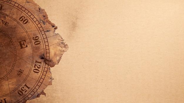 Nasaによって提供されたこの南極の地図画像の要素を持つ古い地図のテクスチャ