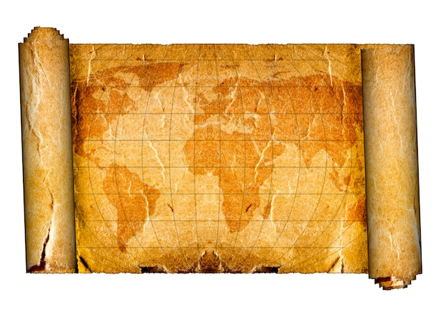 Old map on the white backgrounds