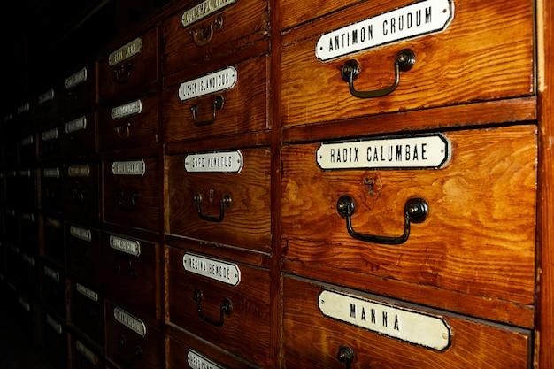 Old medical shelves