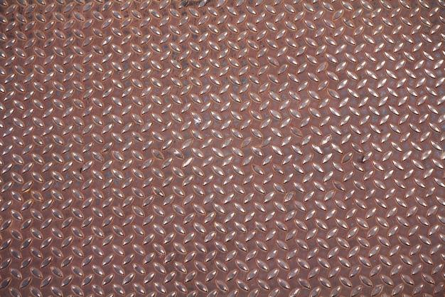 Old metal diamond plate