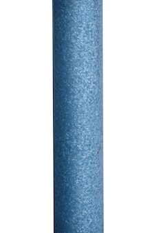 Old metal pole isolated on white background