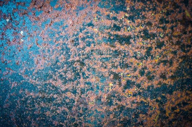 오래 된 녹슨 금속 질감 및 표면