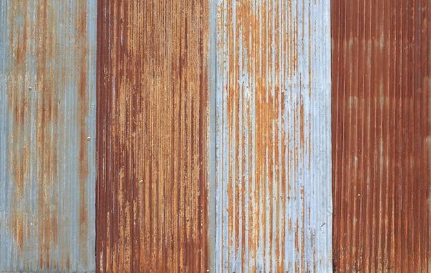 Old metal sheet roof texture pattern of old metal sheet