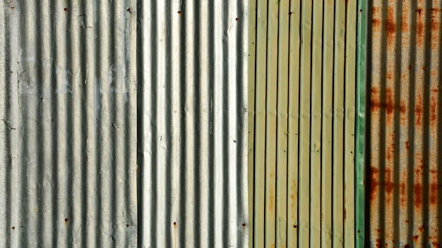 Old metal sheet roof texture.