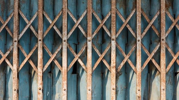 Old metal slide door - background