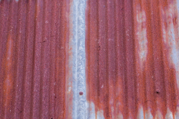 Old metal zinc roof with rustic background