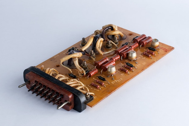 Old microcircuit board