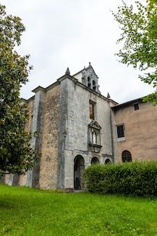 Old monastery of santa clara nuns in the town of azkoitia next to the urola river. founded by don pedro de zuazola, gipuzkoa. basque country